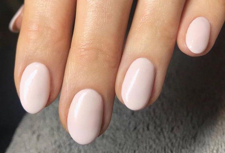 Hand with gel nail polish