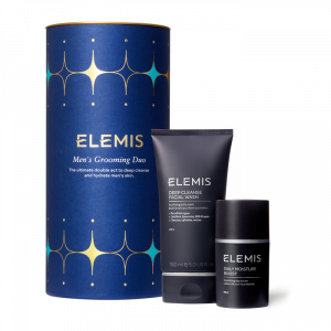 Elemis Mens Grooming Duo Christmas Gift Set containing Deep Cleanse Facial Wash and Daily Moisture Boost