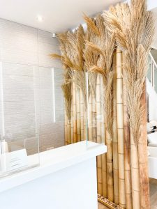 Reception area of the Hair and Beauty spa in Chislehurst