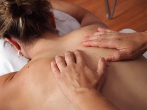 Lady having a massage to highlight the spa treatment service available at the Hair and Beauty room in Chislehursts